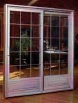 Decorative Wood and Glass Door 5
