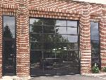 Garage Door - Commercial Aluminum+Glass Black Overhead Door